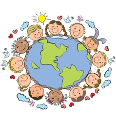 Kids of the Earth vector image vector image