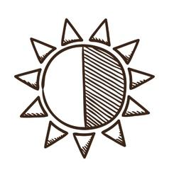 Sun brightness contrast symbol vector image