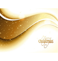 Abstract golden glittery Christmas design vector image