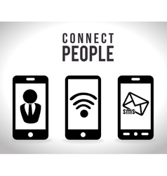 mobile connect design vector image vector image