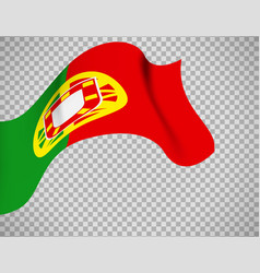 portugal flag on transparent background vector image