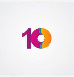 10 years anniversary celebration purple template vector