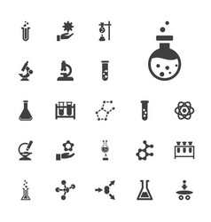 22 scientific icons vector