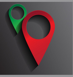 3d red pin location map vector image