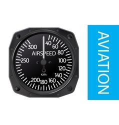 Airspeed indicator vector image