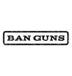 Ban guns watermark stamp vector