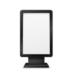 billboard lightbox display city light totem stand vector image