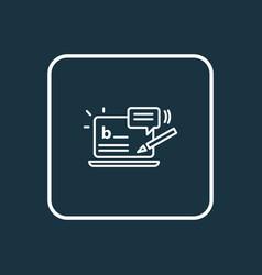 Blog commenting icon line symbol premium quality vector
