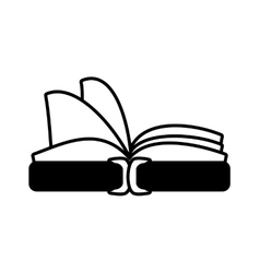 book library learn school outline vector image