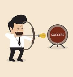Businessman launch idea arrow vector
