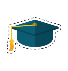 cartoon gaduation cap education symbol vector image