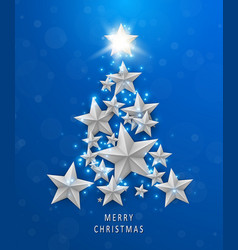 christmas and new years blue background vector image