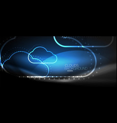 cloud computing storage concept vector image