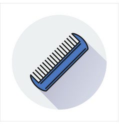 comb icon isolated on circle background vector image