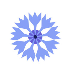 Cornflower blue floral icon flat geometric simple vector