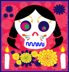 day of the dead 8 vector image