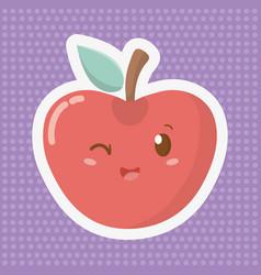delicious tasty cartoon vector image