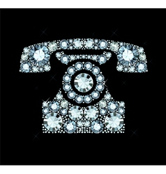 Diamond Telephone vector image