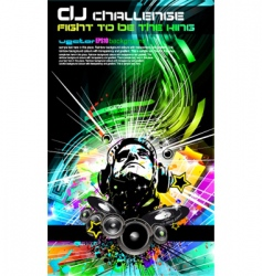 Dj music flyer vector image