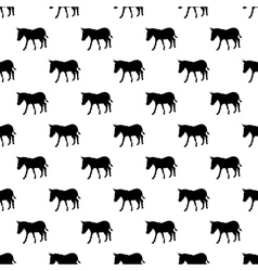 Donkey pattern seamless vector image