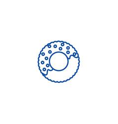 donut line icon concept donut flat symbol vector image