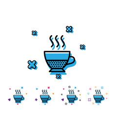 Doppio coffee icon hot drink sign vector