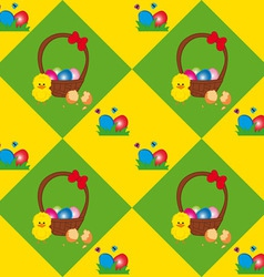 Easter Basket Texture vector