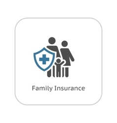 Family Insurance Icon Flat Design vector image