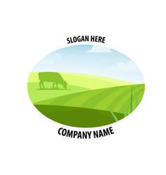 farm concept logo vector image