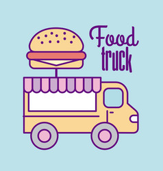 Fast food truck vector