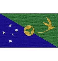 Flags Christmas Island on denim texture vector