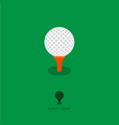 flat golf icon vector image