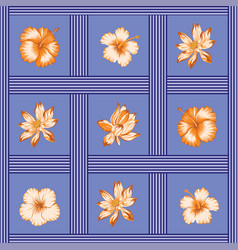 flowers seamless pattern tropical vector image