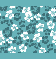 fresh simple minimal floral pattern vector image