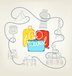 go travel concept color vector image