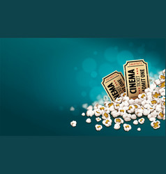 Gold cinema tickets vector