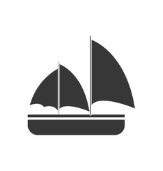 Gray sailing travel maritime vector