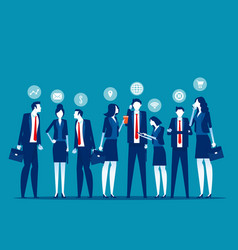 group business colleagues concept business vector image