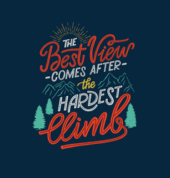 Hand lettering motivation quote 04 vector