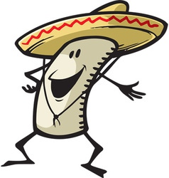 happy burrito vector image