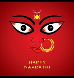 happy diwali or navratri festival greeting card vector image