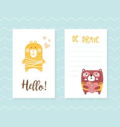 hello be brave inspirational and motivational vector image