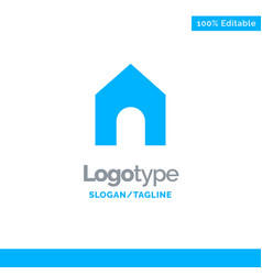 home instagram interface blue solid logo template vector image