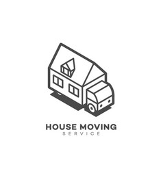 house moving service logo vector image