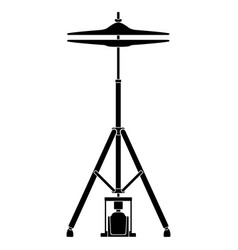 Isolated hit hat icon musical instrument vector