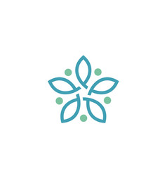 link connection flower star knot logo vector image
