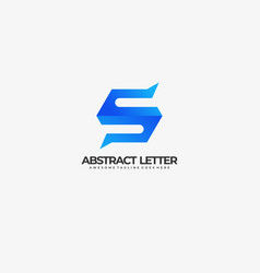 logo abstract letter s gradient colorful style vector image