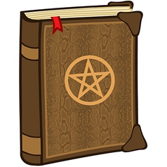 Magic spell book vector