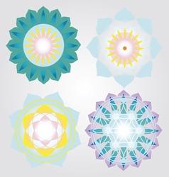 Mini Mandalas icons set vector