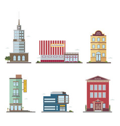 modern buildings in different architectural styles vector image